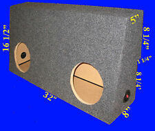 "TOYOTA TUNDRA CREWMAX 2007-2010 10"" SEALED GREY SUBWOOFER SUB ENCLOSURE BOX"