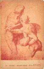 B66436 Italia Venise Michel Ange Etude d'hommes nus  italy
