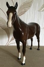 ROYAL DOULTON HORSE RACEHORSE BOIS ROUSSEL MODEL No. DA 42 BROWN GLOSS PERFECT