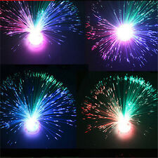 New LED Color Changing Fiber Optic Night Light Lamp Colorful Home Party Decor SA