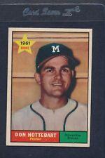 1961 Topps #029 Don Nottebart Braves NM *3793