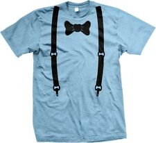 Bow Tie Suspenders Fake Tuxedo Classy Funny Joke Formal Humor Mens T-shirt