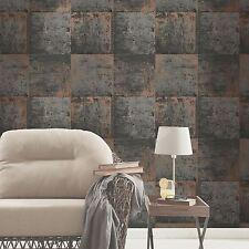 Panel de Metal Metálico Gris & Cobre Wallpaper característica pared Decoración De Pared Gratis P + P