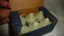 #727/6 vtg PartyLite Votive candles Lot of 6 In Box Bamboo Waters Vo6908 ?