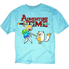 Adventure Time Fionna & Cake Mens Blue T-Shirt