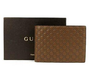 Gucci Men Brown Microguccissima Leather Bi-fold Wallet w/Coin Pocket 292534 2527