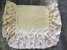 Vtg 80s Peter Rabbit Crib Skirt Beatrix Potter Baby Bed Dust Ruffle Quiltex Usa