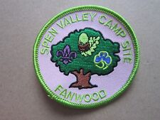 Spen Valley Camp Site Fanwood Girl Guides Cloth Patch Badge L5K D