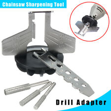 Chain Saw Sharpening Tool Attachment Rotary Power Drill Hand Sharpener Adapter