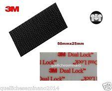Dual lock SJ 3550 3M adesivi 2 pezzi 25mmx50mm GOPRO TELEPASS colore nero forte+