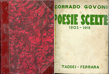 FUTURISMO CORRADO GOVONI POESIE SCELTE 1903 1918 TADDEI FERRARA 1^ EDIZIONE
