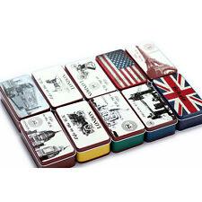 UK drapeau Londres bus papeterie fer étain rangement petit cadeau boîte à bijoux