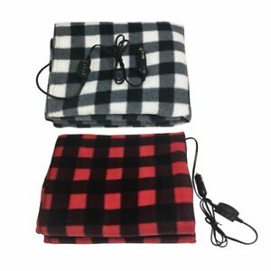 Battery Powered Heated Blanket Electric Operated Thrown Warming Portable Winter
