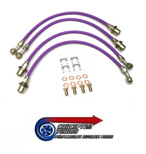 Stainless Braided Brake Line Hose Set of 4 -For SXE10 Toyota Altezza 3S-GE Beams