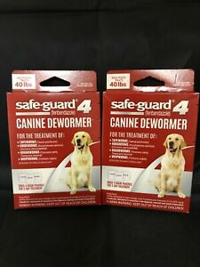 2 Boxes Safe-Guard Canine Dewormer for Large Dogs, 3 Day Treatment exp.12/22