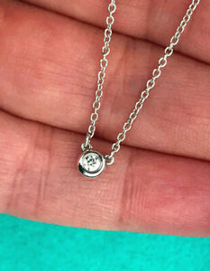 Tiffany & Co Diamond Sterling Silver Elsa Peretti By the Yard Necklace