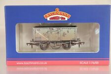BACHMANN 37-377G WEATHERED BR GREY 16 TON MINERAL WAGON B247055 MINT BOXED nx