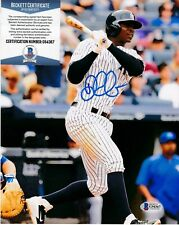 DIDI GREGORIUS   NEW YORK YANKEES   BECKETT AUTHENTICATED   ACTION SIGNED 8x10