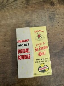1960 SAN FRANCISCO 49ERS SCHEDULE FALSTAFF BEER