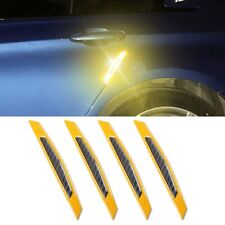 3D Yellow Reflective Stickers Car Side Door Edge Anti-Scratch Protection Decal