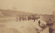 Travaux Chemin de fer Campagne France à identifier Vintage albumine ca 1880