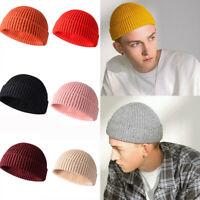 Cuff Beanie Knit Hat Winter Warm Cap Slouchy Skull Ski Hats Men Women Warm Plain