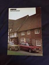 1974 Fiat 124 Coupe Sedan and Wagon USA Color Brochure Catalog Prospekt