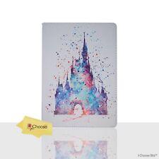 DISNEY Fan Art Custodia/Coperchio/Apple iPad 2/3/4 Pieghevole Folio/PU pelle/CASTLE