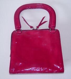 PRADA MIU MIU Begonia Patent Leather Handbag CUTE!