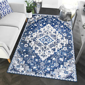 Modern Traditional Vintage Small Bedside Rug 3x5 Throw Accent Rug Foyer Carpet