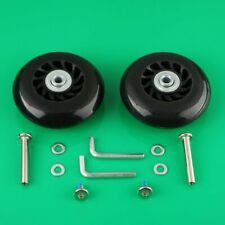 2 Set Luggage Suitcase Replacement Wheels Axles 40 Wrench Deluxe Repair OD 76mm