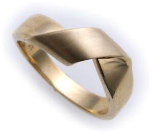 Damen Ring echt Gold 333 teilmattiert massiv 8kt Gelbgold massive Qualität NEU