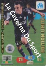 OM MATHIEU VALBUENA # LIMITED EDITION MARSEILLE CARD ADRENALYN FOOT 2014 PANINI