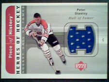 PETER STASTNY  AUTHENTIC HALL OF FAMER PIECE OF A GAME-USED JERSEY