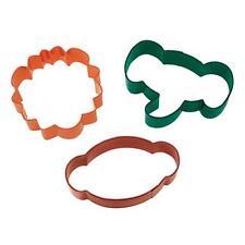 Wilton JUNGLE PALS Cookie Cutter 3pce set (lion, elephant, monkey heads)
