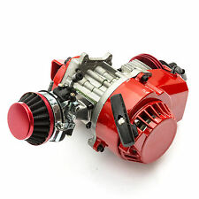 Motor de carreras con refrigeracion por aire de 49cc para minimoto pocket - rojo