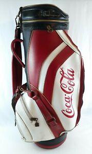 Vintage Coca Cola M Miller Golf Bag Coke Caddy With Shoulder Strap