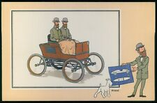 c50 art Herge TINTIN cartoon early automobile CARS original old 1950s card