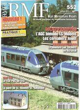 RMF N°552 GARE DE ST-BONNET - ST-AMANDIN / TGV POS DE TRIX / PEINTURE SUR ROCHER