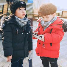 Kids Girls Boys Winter Warm Coat Down Parka Outwear Hooded fashion Jacket Coats