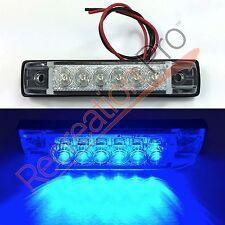 "4 NEW BLUE LED SLIM LINE LED UTILITY STRIP LIGHTS 6 LEDS 4""x1"" RV BOAT"