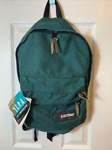 Vintage Eastpak Backpack Made in USA Green Nylon Black Foam Straps Day Pack 90s