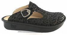 Alegria Delicut Shoe Women's Black Leather Clog Size 39 US 9 New