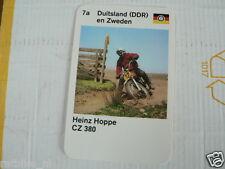 23 MOTO-CROSS 7A DDR/SWEDEN HEINZ HOPPE CZ 380 KWARTET KAART, QUARTETT CARD,