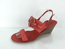 Tory Burch Women's Red Leather Wedges 11 M