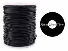 Black Hollow Rubber Cord - 25 Yards - 2mm Round - Beading Jewelry Crafts Tubing
