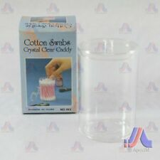 Cotton Swab Holder ( Clear & Blue ) Clear
