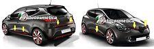 seitliche Türleisten+Heckleiste+Kühlergrill Edelstahl Farbe rot RENAULT CLIO IV