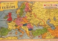 1944 Map Of Europe Star Weekly WW2, War How Germany Was Encircled By UN PR8