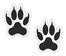 2x Wolf Paw Print Stickers Symbol of Mentoring Teaching Wisdom for Bumper Helmet
